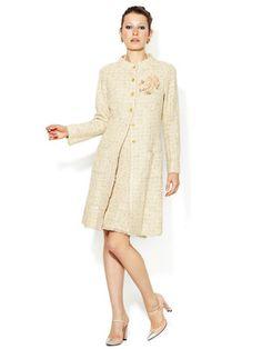 Chanel Boucle Fringed Coat and Skirt