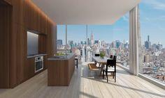 Herzog & de Meuron and John Pawson teamed up to design the exterior and interior of a Manhattan hotel and apartment block for developer Ian Schrager. Manhattan, Best Interior, Interior Styling, Interior Design, Ian Schrager, Hotels, New York City Apartment, John Pawson, Nyc
