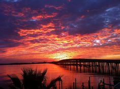 Red Sunset Destin Bridge by Emerald Grande at HarborWalk Village, via Flickr
