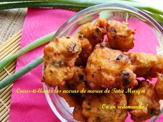 Here is the recipe to make this famous Caribbean aperitif. It's especially delicious when the cod fritters are crispy! Cod Recipes, Cuban Recipes, Fish Recipes, Appetizer Recipes, Cooking Recipes, Vegan Sushi, Island Food, Vegan Smoothies, Exotic Food