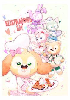 Disney Bear, Duffy, Teddy Bear, Toys, Friends, Party, Anime, Amigurumi, Blue Prints