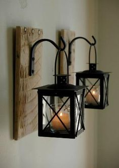 Blackened Wood Sconce Iron Candle Holder Primitive Early Lighting ...
