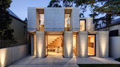 Glebe House by Nobbs Radford Architecture 📍 NSW . 📸 courtesy of Nobbs Radford Architecture. Architecture Résidentielle, Cabinet D Architecture, Contemporary Architecture, Contemporary Barn, Futuristic Architecture, Classical Architecture, Wooden Staircase Design, Architects Sydney, Design Exterior
