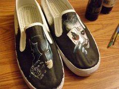 #batman #joker #shoes  WANT