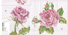 Cross Stitch Pattern Roses  CURIOSA CORUJA