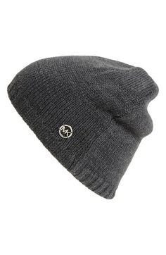 75d638f83b9 MICHAEL Michael Kors Reversible Knit Beanie available at  Nordstrom Knit  Beanie
