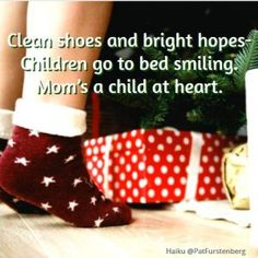 Christmas Tree and Saint Nicholas, two Christmas Haiku So tall for small child, Only Dad reaches its top. ~ 6 December holds a special place and my heart, it brings the firs… Haiku, Short Poems, Saint Nicholas, Christmas Tree, Shoe, Gifts, Teal Christmas Tree, Zapatos, Presents