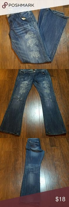 """Almost Famous Plus Size Jeans Marked size 13 Waist 37"""" Rise 8"""" Inseam 33"""" 60% Cotton 39% Polyester  1% Spandex Almost Famous Jeans Straight Leg"""