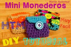 Mini Monederos tejidos atreveré a hacer lo tu mism@ HTM **** tutorial*** DIY *** FACIL!!! para Principiantes y expertos!! !!!!!!^__________^ !!!! Diy Crochet Coin Purse, Crochet Diy, Crochet Keychain, Crochet Hats, Crafts For Teens, Gifts For Kids, Bandeau Crochet, Accessoires Divers, Coin Bag