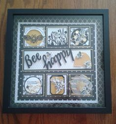 Box Frame Art, Shadow Box Frames, Bee Cards, Collage Frames, Bee Happy, Crafty Projects, Craft Fairs, Framed Art, Collage Pictures