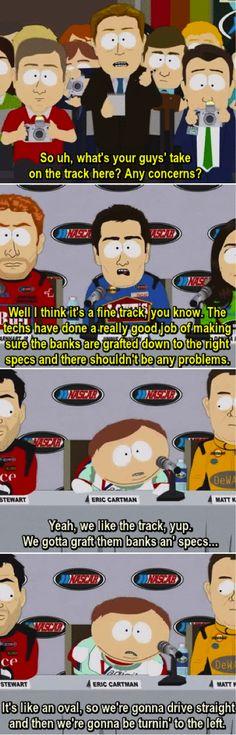 South Park Cartman NASCAR