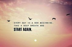 New day new beginning