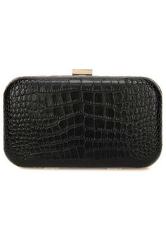 Show stopping croc embossed leather clutch perfect for any occasion. Big enough to fit your cell phone without compromising style  Signature hot pink interior  Snap closure  Inside pocket  21 drop shoulder strap  Dimensions: 8.25W x 3.5H x 2.5D Leather Rose Clutch by F&W STYLE. Bags - Clutches Georgia
