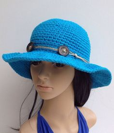 64cbb8d3465 Items similar to Cotton Summer Hat .... Crochet Sun Hat ...... Floppy  Hat... Beach Hat... Women s Hat... Cotton Hat on Etsy