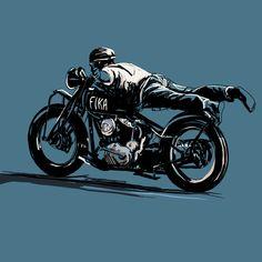 T.R.O.G. Fika, Gentleman, Sketches, Racing, Motorcycle, Vehicles, Motorbikes, Drawings, Running