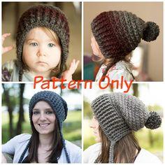 The Cora Hood  Crochet Pattern