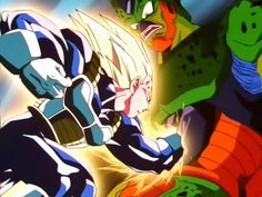 """Cell: """"this can't be, how did you get so strong vegeta? Vegeta: I do a lot of push-ups and drink plenty of juice. Lololol #owned #classic"""