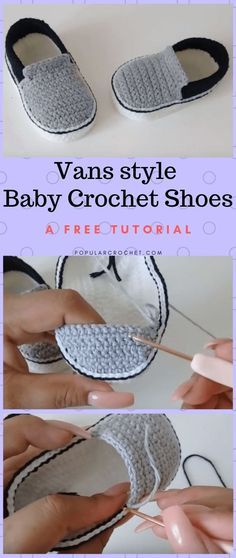 vans style baby crochet shoes popularcrochet com popularcrochet crochet vanstyleshoes freecrochettuto - The world's most private search engine Booties Crochet, Crochet Converse, Crochet Shoes Pattern, Baby Shoes Pattern, Shoe Pattern, Crochet Slippers, Kids Slippers, Crochet Patterns Baby, Pattern Sewing
