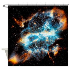 NGC 5189 Planetary Nebula Shower Curtain on CafePress.com