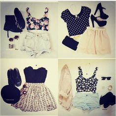 Cute clothes totally teenage style but I love them. Belongs on a runway