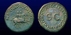 NERO  et DRVSVS  Caesares - Æ  DVPONDIVS   A.D.40-41   ROMA  - RIC I 34, C 1, BMC 44    (Lusus Troiae)