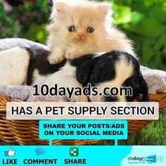 10dayads.com has a Pet supply section. #FreePetAds #PetSupply