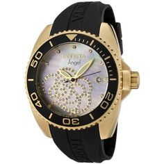 Invicta Womens Angel Collection Zirconia Accented Polyurethane Watch  close