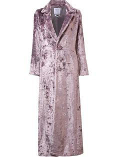 Shop Rosie Assoulin long artificial fur coat .