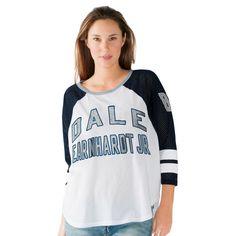 Dale Earnhardt Jr. G-III 4Her by Carl Banks Women's High Bank Long Sleeve T-Shirt - White - $29.99