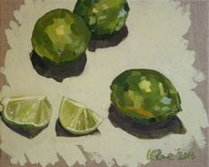 Buy Still life of limes, Oil painting by Katharine Rowe on Artfinder. Discover thousands of other original paintings, prints, sculptures and photography from independent artists.