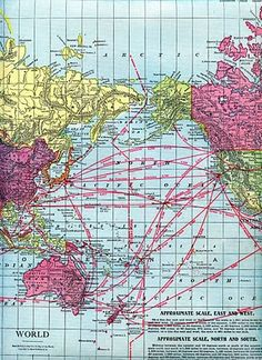 Map of the world - Vintage map of the world - The World on ...