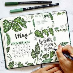 ay is here ! How cute is this tropical vibes monthly page ? 😍 By Henry Phung … ay is here ! How cute is this tropical vibes monthly page ? 😍 By Henry Phung . Check out our tropical vibes collection 🌴 and much Bullet Journal School, Bullet Journal Month, Bullet Journal Notebook, Bullet Journal Themes, Bullet Journal Spread, Bullet Journal Inspiration, Journal Ideas, Art Journaling, Bellet Journal