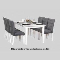 Pakkepris - Spisebord Grace med 6 stoler
