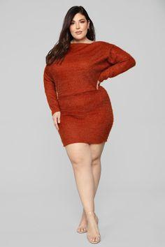 6252a761fc5 Crazy In Love Sweater Dress - Rust