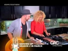 Kimberly's Simply Southern Cooking Show on GAC featuring Kristian Bush from Sugarland Southern Kitchens, Trisha Yearwood, Food Salad, Simply Southern, The Creator, Beef, Dessert, Fruit, Vegetables