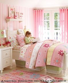 Pottery Barn pink bedroom