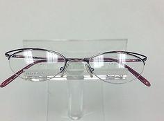 42e6c8171f5e Valentino Semi rimless violet temple gunmetal eyeglasses frames Designer  glasses