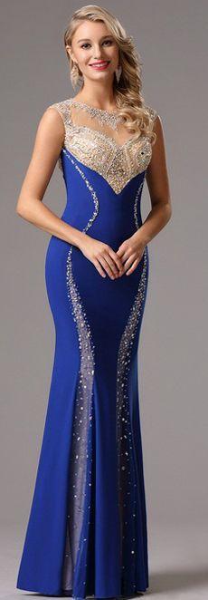 57 ideas dress evening blue sparkle for 2019 Gala Dresses, 15 Dresses, Sexy Dresses, Lovely Dresses, Beautiful Gowns, Elegant Dresses, Royal Blue Evening Dress, Pink Wedding Dresses, Vintage Inspired Dresses