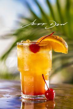 Mango Mai Tai with Bacardi Mango Fusion, Triple Sec, OJ Pineapple Juice, Grenadine and Meyers Dark Rum at Echo Lounge inside the Lake Tahoe Resort Hotel.