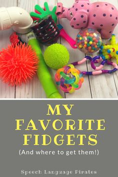 my favorite fidgets sensory toys for autism ASD preschool speech therapy Sensory Toys For Autism, Sensory Activities, Infant Activities, Autism Resources, Sensory Bins, Preschool Ideas, Preschool Speech Therapy, Toddler Preschool, Relaxer