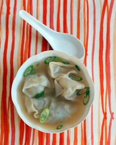 My Wonton soup recipe? I buy Lipton's Chicken soup and add Trader Joe's Pork and Cilantro Dumplings...delicious HA :P