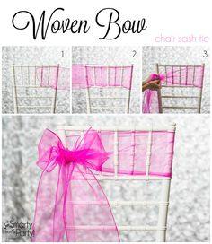 How to tie a Woven Bow chair sash! | Smarty Had A Party