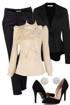 If you want to look cute at work without all the hassle and without draining your wallet, visit http://outfitsforlife.com for more info and to see more work outfits like this one! #fallworkoutfits #workoutfits