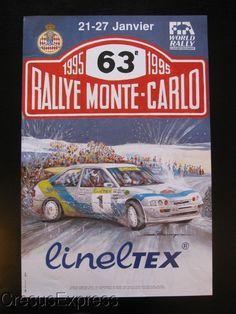 AFFICHE ORIGINALE ACM 63° RALLYE MONTE CARLO 1995 WRC fr.picclick.com