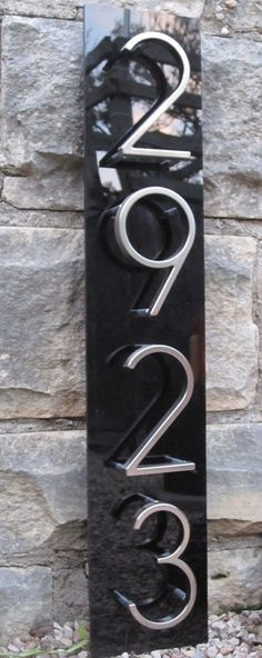 Modern House Numbers modern accessories and decor