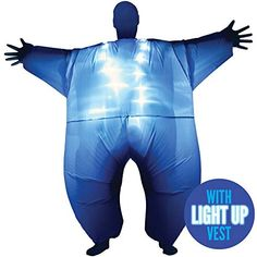 Blue Light Up MegaMorph Inflatable Costumes Adult Halloween Fancy Dress Funny Scary Tag someone who should wear this! Christmas Fancy Dress, Halloween Fancy Dress, Adult Halloween, Halloween Christmas, T Rex Costume, Costume Works, Costume Dress, Cheap Halloween Costumes, Scary Costumes