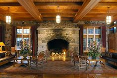 In front of the fireplace with a hot chocolate at the Crater Lake Lodge.  https://www.youtube.com/watch?v=pAdSSIVF6Xo