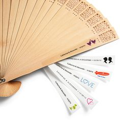 Yay! :) Found a personalized fan for the Wedding Ceremony!