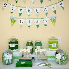 TOO excited about today's party feature – a golf party full of clever ideas! It was put together by crafty mama Lauren for her one-year-old son, Liam. The party was LOADS of fun for all the guests (just check out the photo of the golf ...
