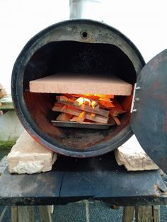 Oven Diy, Diy Grill, Pizza Oven Outdoor, Outdoor Cooking, Barrel Stove, Barrel Bbq, Oil Drum Bbq, Custom Bbq Smokers, Stone Pizza Oven